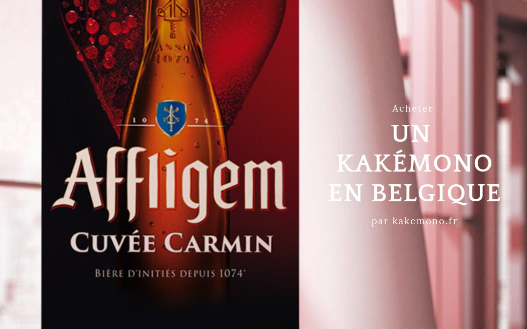 kakemono belgique biere